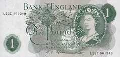 Англия: 1 фунт (1960-77 г.)