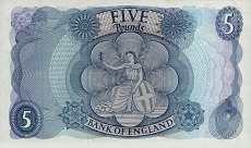Англия: 5 фунтов (1963-71 г.)