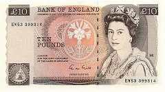 Англия: 10 фунтов (1975-92 г.)