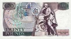 Англия: 20 фунтов (1971-91 г.)
