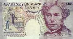 Англия: 20 фунтов 1993-98 г.