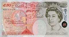 Англия: 50 фунтов 1994-2006 г.
