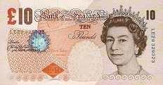 Англия: 10 фунтов 2000-2013 г.