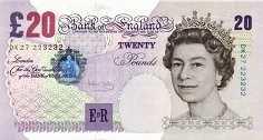 Англия: 20 фунтов 1999-2006 г.
