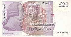 Англия: 20 фунтов 2006-12 г.