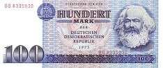 ГДР: 100 марок 1975 г.