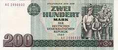 ГДР: 200 марок 1985 г.