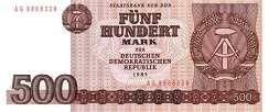 ГДР: 500 марок 1985 г.