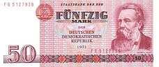 ГДР: 50 марок 1971 г.