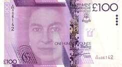 Гибралтар: 100 фунтов 2011 г.
