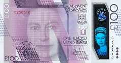 Гибралтар: 100 фунтов 2015 г.