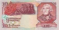 Гибралтар: 10 фунтов 1995-2006 г.