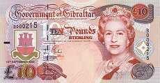 Гибралтар: 10 фунтов 2002 г. (юбилейная)