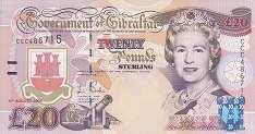 Гибралтар: 20 фунтов 2004 г. (юбилейная)