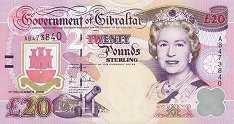 Гибралтар: 20 фунтов 1995-2006 г.