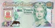 Гибралтар: 5 фунтов 2000 г.