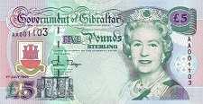 Гибралтар: 5 фунтов 1995 г.