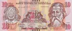 Гондурас: 10 лемпир 2012-14 г.