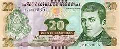 Гондурас: 20 лемпир 2012-14 г.