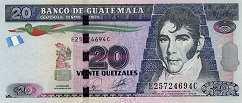 Гватемала: 20 кетсалей 2010-15 г.