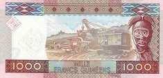 Гвинея: 1000 франков 2010 г. (50-летие ЦБ)