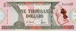 Гайана: 1000 долларов (1996 г.)