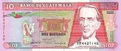 Гватемала 10 кетсалей 1989-92 г.