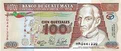 Гватемала: 100 кетсалей 1989-92 г.