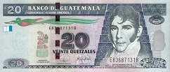 Гватемала 20 кетсалей 2008 г.