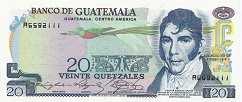 Гватемала: 20 кетсалей 1972-83 г.