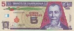 Гватемала: 5 кетсалей 2008 г.