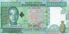 Гвинея: 10000 франков 2008 г.