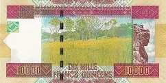 Гвинея: 10000 франков 2012 г.