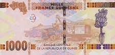 Гвинея: 1000 франков 2015-17 г.