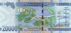 Гвинея: 20000 франков 2015 г.