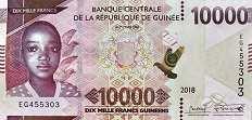 Гвинея: 10000 франков 2018 г.