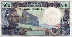 Новые Гебриды: 500 франков (1970 г.)