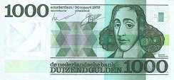Нидерланды: 1000 гульденов 1972 г.