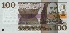 Нидерланды: 100 гульденов 1970 г.