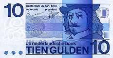 Нидерланды: 10 гульденов 1968 г.
