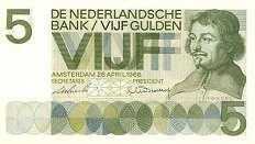 Нидерланды: 5 гульденов 1966 г.