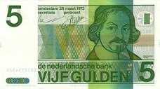 Нидерланды: 5 гульденов 1973 г.