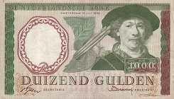 Нидерланды: 1000 гульденов 1956 г.