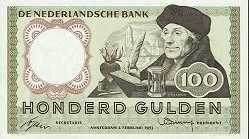 Нидерланды: 100 гульденов 1953 г.