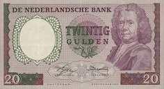 Нидерланды: 20 гульденов 1955 г.