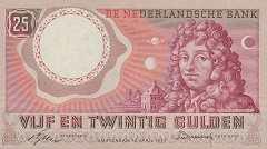 Нидерланды: 25 гульденов 1955 г.