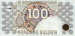 Нидерланды: 100 гульденов 1992 г.