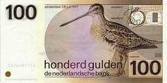 Нидерланды: 100 гульденов 1977 г.