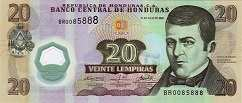 Гондурас: 20 лемпир 2008 г.