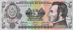 Гондурас: 5 лемпир 1996-2010 г.